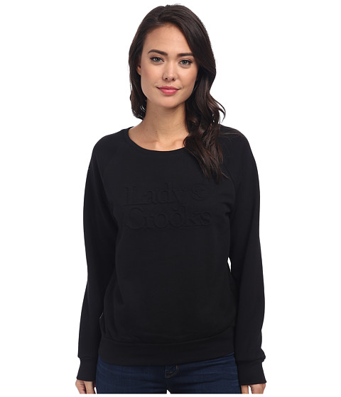 Crooks & Castles - Knit Crew Sweatshirt - Lady Crooks (Black) Women's Sweatshirt