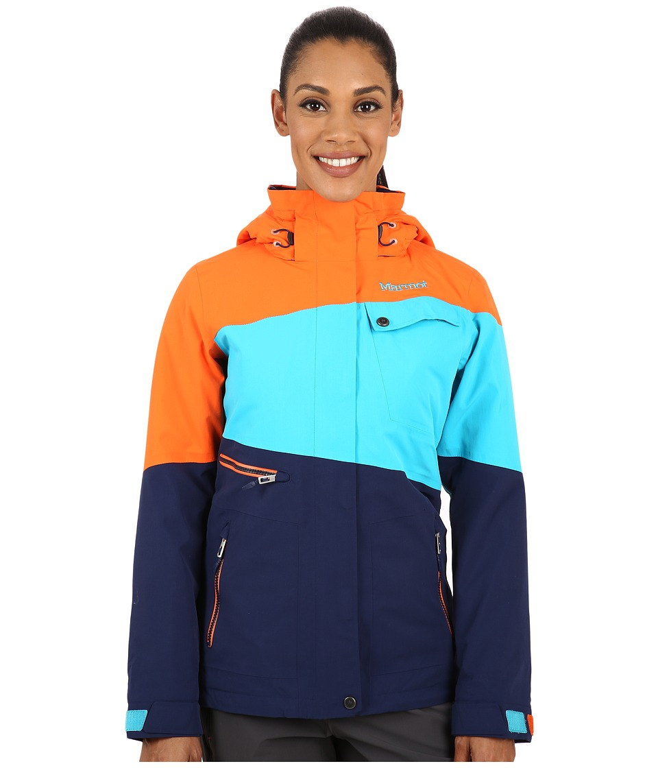 Marmot - Moonshot Jacket (Arctic Navy/Orange Coral) Women's Coat