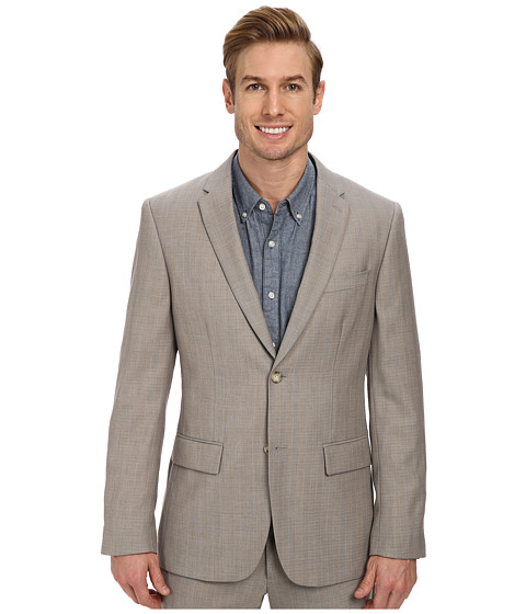Perry Ellis - Slim Fit Travel Luxe Stripe Suit Blazer (Alloy) Men's Jacket