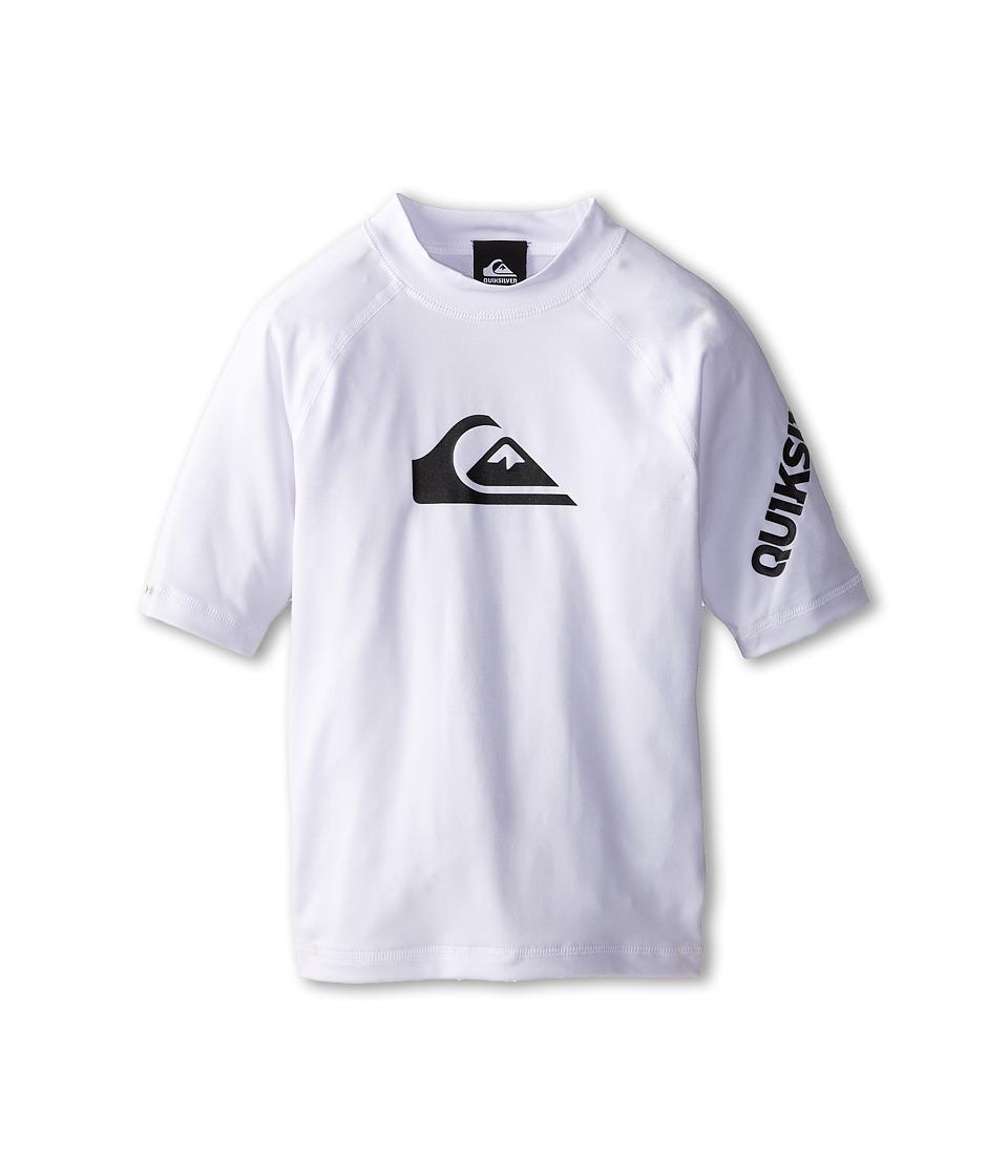 Quiksilver Kids - All Time Surfshirt Rashguard (Big Kids) (White) Boy's Swimwear