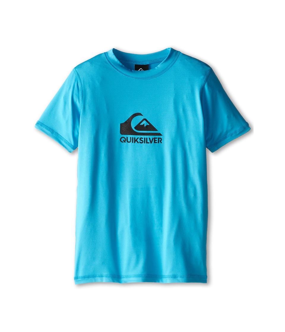 Quiksilver Kids - Solid Streak Rashguard (Big Kids) (Hawaiian Ocean) Boy's Swimwear
