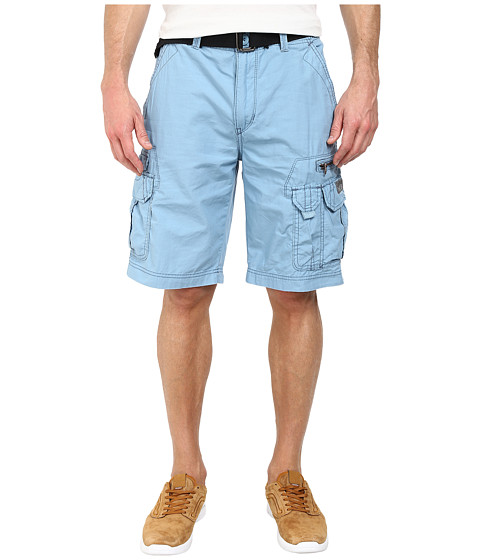 UNIONBAY - Bailey Belted Cargo Short (Green Beret) Men's Shorts