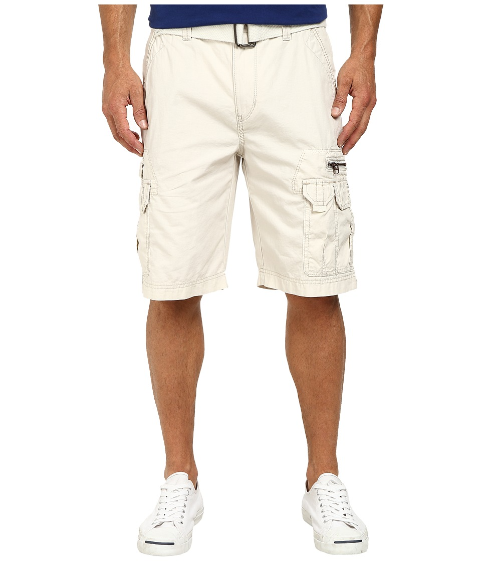 UNIONBAY - Bailey Belted Cargo Short (Stone) Men's Shorts