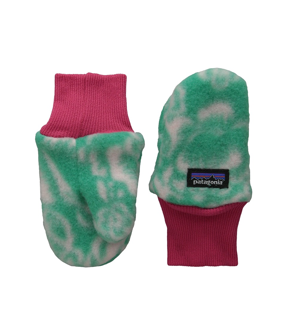 Patagonia Kids Pita Pocket Mittens (Infant/Toddler) (Barceloneta: Aqua Stone) Extreme Cold Weather Gloves