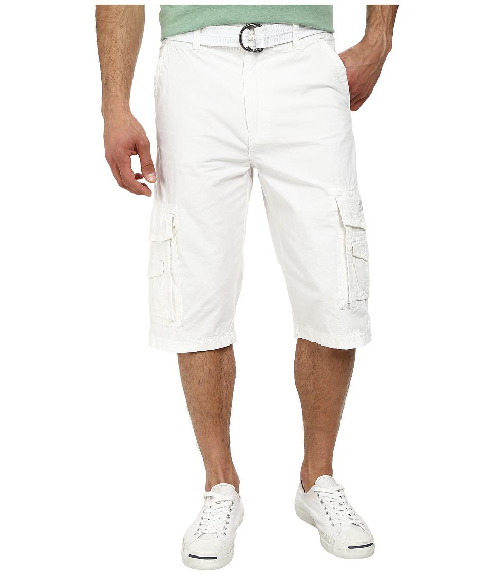 UNIONBAY - Cordova Belted Cargo Short (White) Men