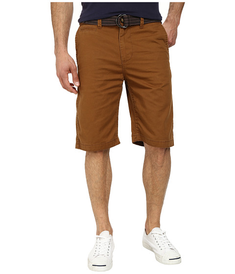 UNIONBAY - Finley Belted Chino Short (Sasquatch) Men's Shorts