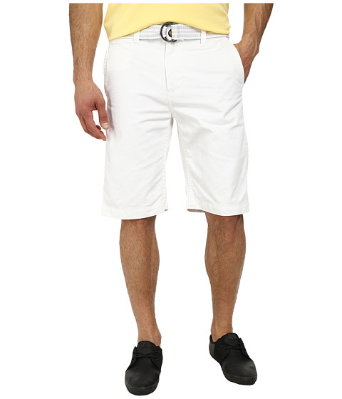 UNIONBAY - Finley Belted Chino Short (White) Men's Shorts
