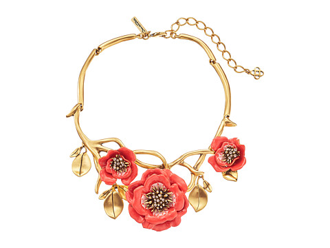 Oscar de la Renta - Painted Flower Necklace (Granita) Necklace