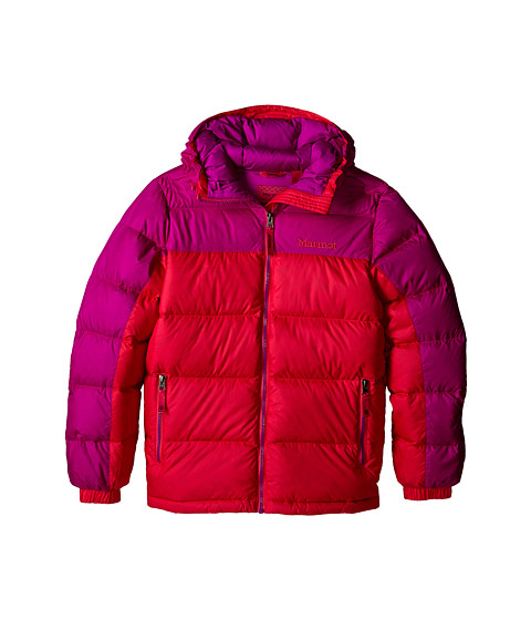 Marmot Kids - Girl's Guides Down Hoody (Little Kids/Big Kids) (Pink Rock/Beet Purple) Girl's Coat
