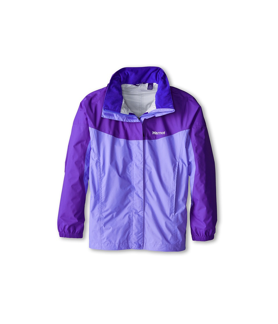 Marmot Kids - Girl's PreCip Jacket (Little Kids/Big Kids) (Pale Dusk/Gemstone) Girl's Coat