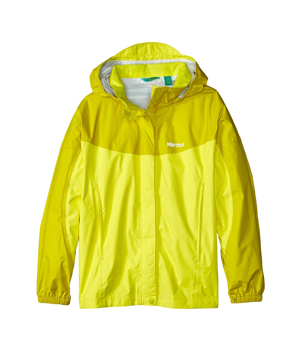 Marmot Kids - Girl's PreCip Jacket (Little Kids/Big Kids) (Vibrant Yellow/Yellow Vapor) Girl's Coat
