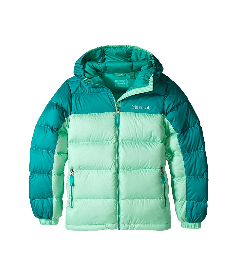 Marmot Kids - Girl's Guides Down Hoody (Little Kids/Big Kids) (Green Frost/Green Garnet) Girl's Coat