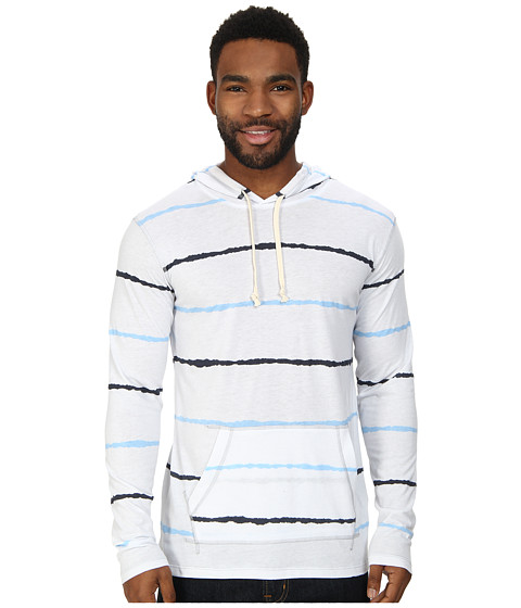 UNIONBAY - Long Sleeve Madison Pullover Hoodie (White) Men
