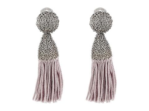 Oscar de la Renta - Short Silk Tassel C Earrings (Smoke) Earring
