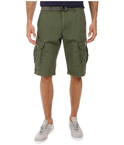 UNIONBAY - Lewis 13 Belted Short (Green Beret) Men's Shorts