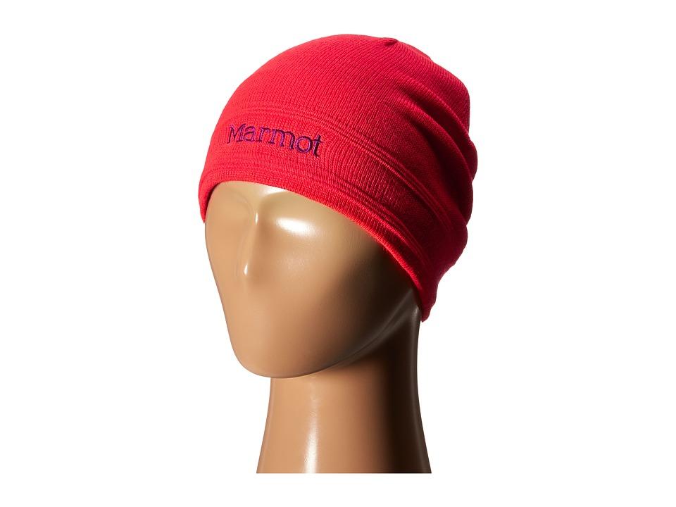 Marmot Kids - Girl's Shadows Hat (Little Kids/Big Kids) (Bright Pink) Knit Hats