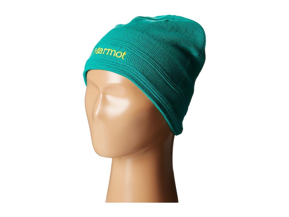 Marmot Kids - Girl's Shadows Hat (Little Kids/Big Kids) (Gem Green) Knit Hats