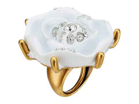 Oscar de la Renta - Resin Rose Ring (White Gold) Ring