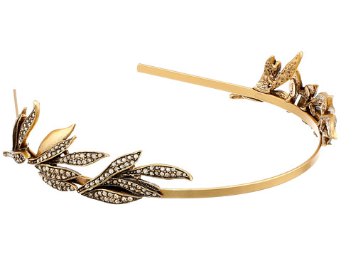 Oscar de la Renta - Pave Spike Tiara (Cry Gold Shadow) Headband