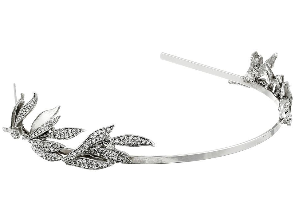 Oscar de la Renta - Pave Spike Tiara (Crystal/Silver) Headband