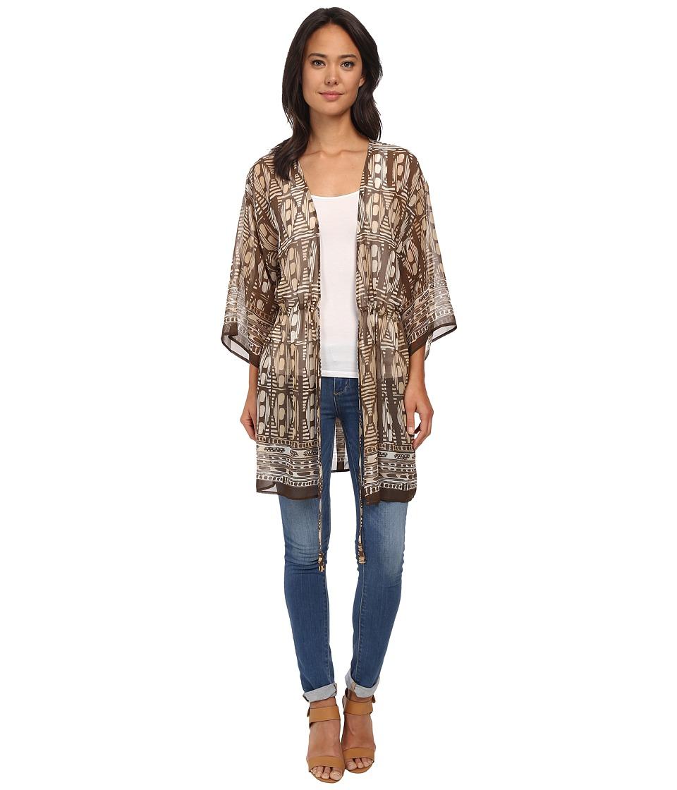 NIC+ZOE - Beach Walk Kimono (Multi) Women's Blouse plus size,  plus size fashion plus size appare