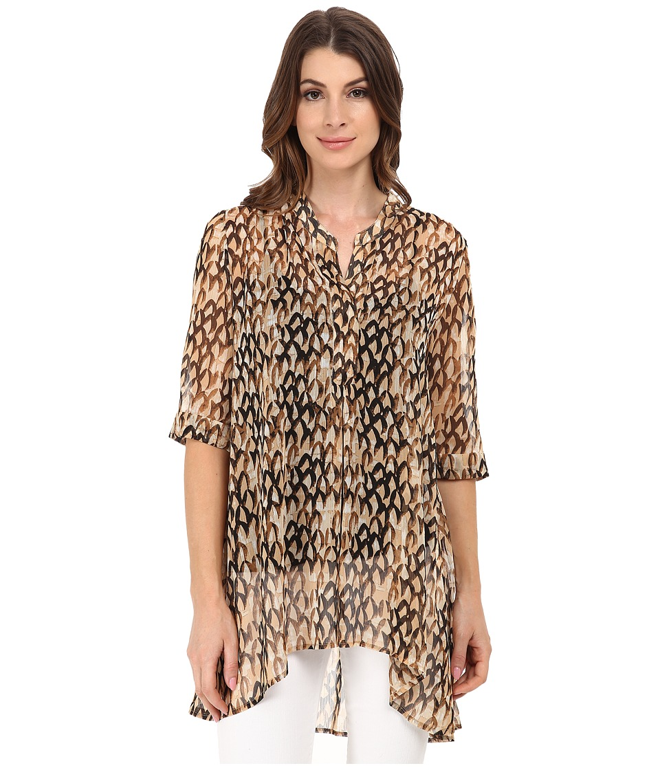 NIC+ZOE - Feathers Tunic (Multi) Women's Clothing
