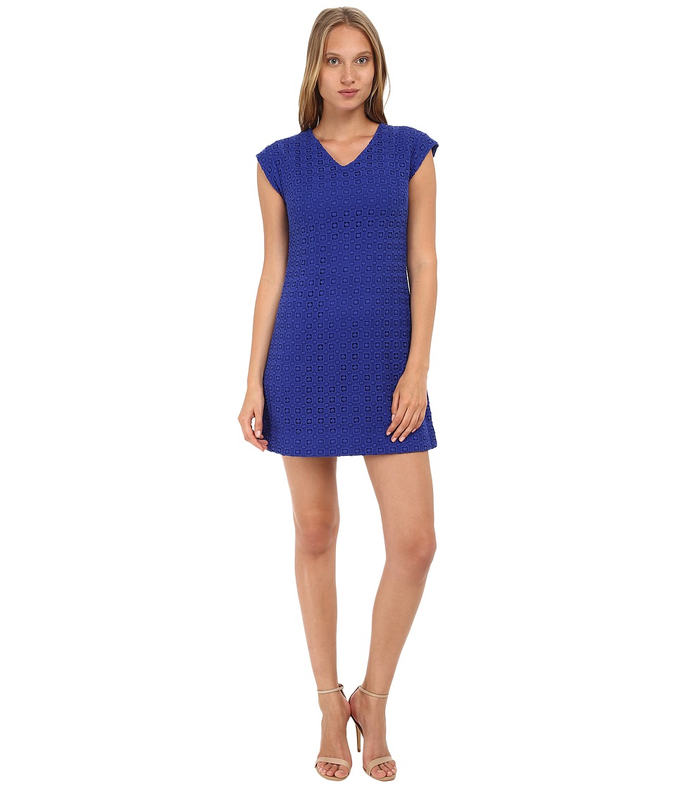 Kate Spade New York - Guipure Lace A-Line Dress (Lapis Blue) Women's Dress