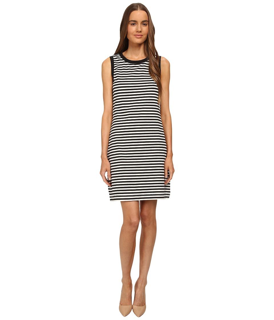Kate Spade New York - Cameo Back Shift Dress (Black/Cream) Women's Dress