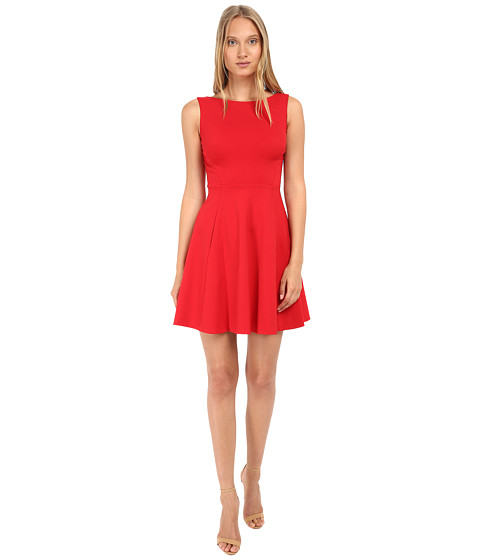 Kate Spade New York - Ponte Bow Back Dress (Spicy Red) Women's Dress