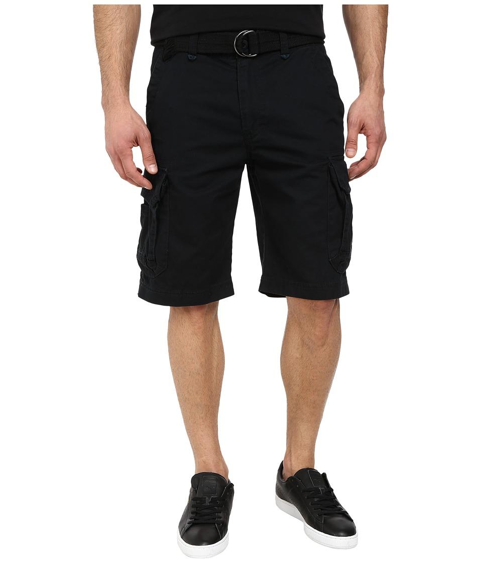 UNIONBAY - Survivor Belted Cargo Short (Black) Men's Shorts