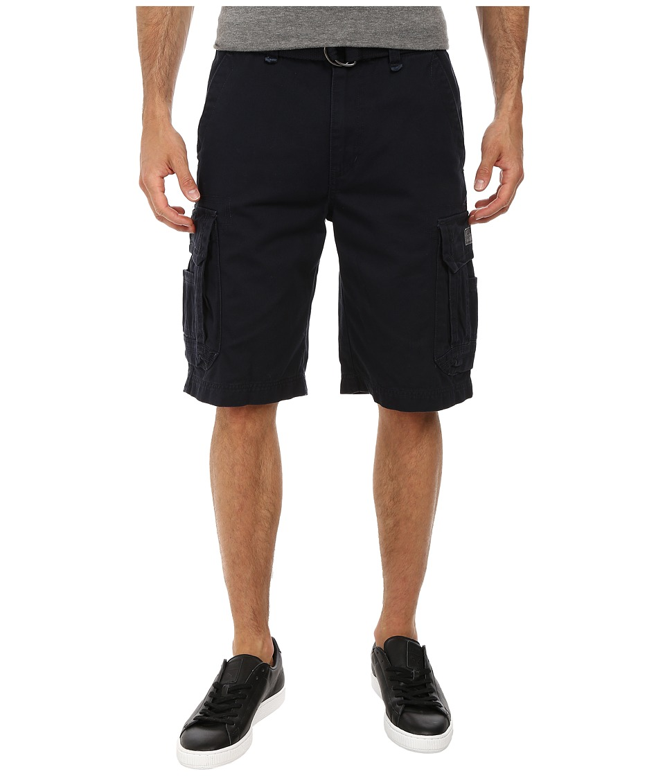 UNIONBAY - Survivor Belted Cargo Short (True Navy) Men's Shorts