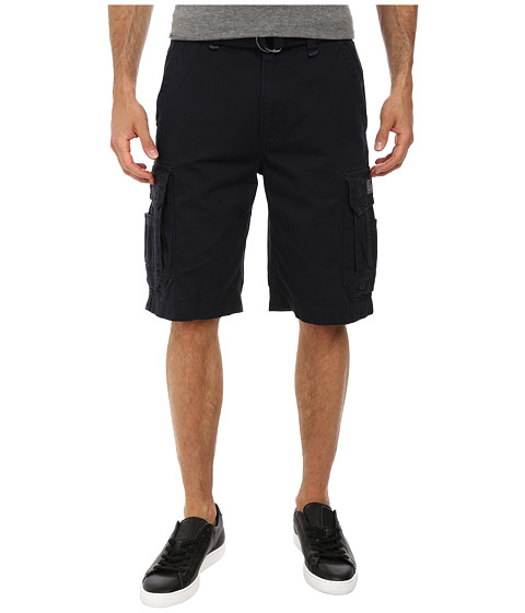 UNIONBAY - Survivor Belted Cargo Short (True Navy) Men