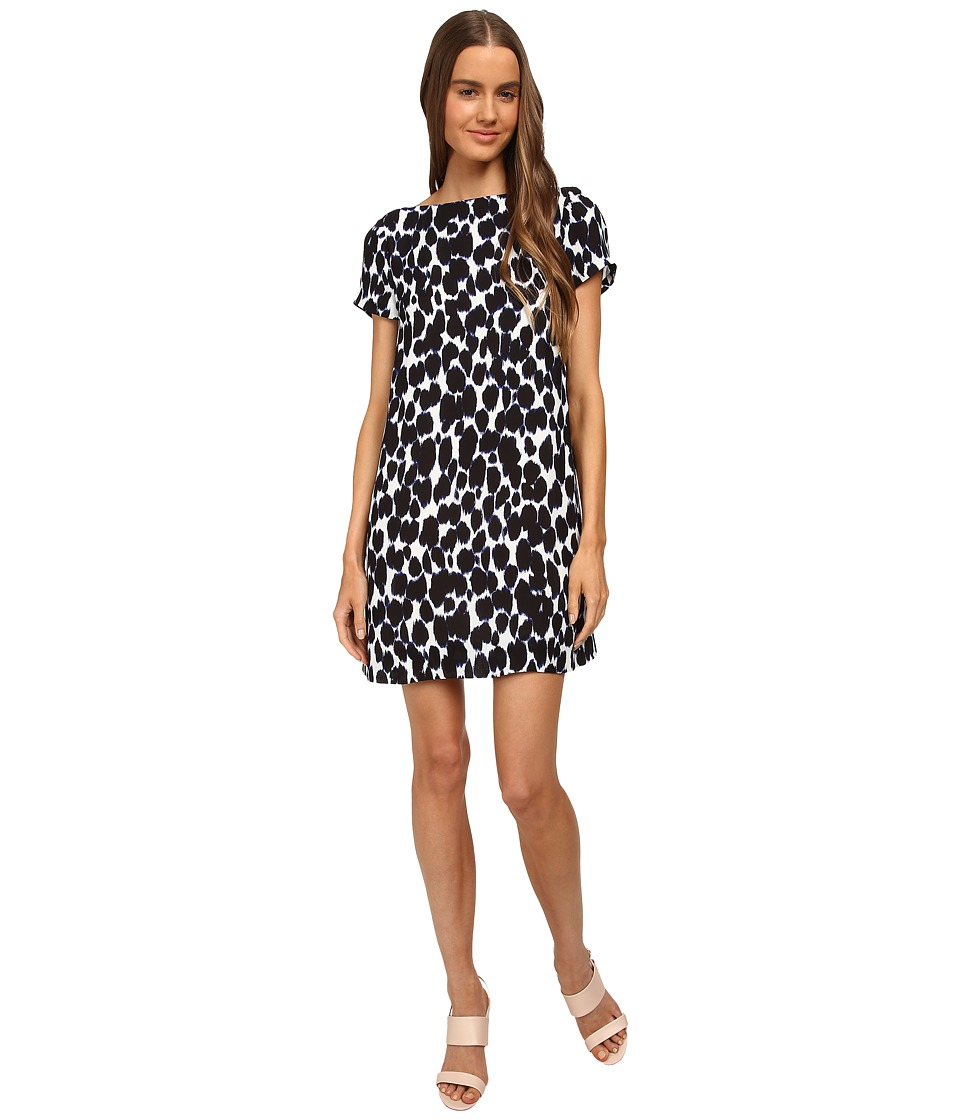 Kate Spade New York - Leopard Print Swing Dress (Deep Indigo) Women's Dress