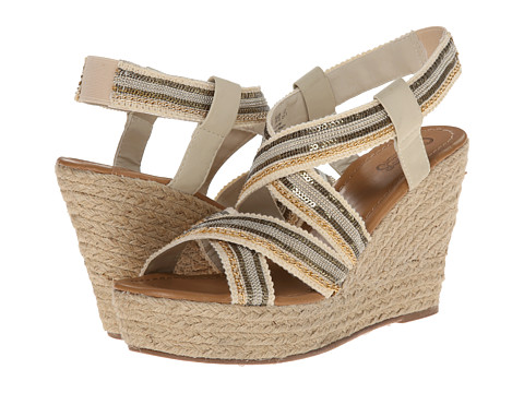 CARLOS by Carlos Santana - Corelle (Natural) Women's Wedge Shoes