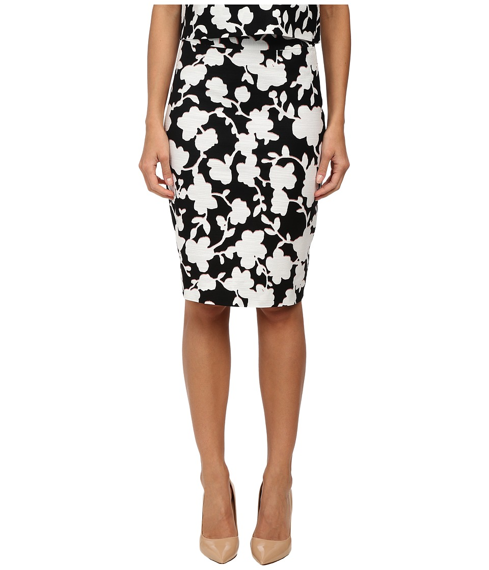 Kate Spade New York - Graphic Floral Marit Skirt (Black) Women's Skirt