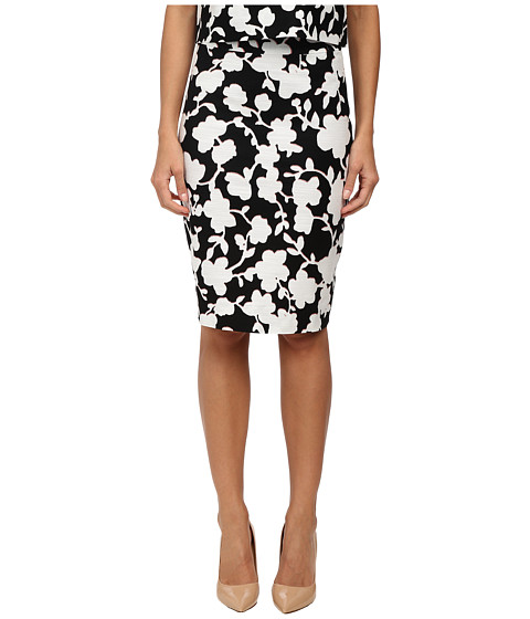 Kate Spade New York - Graphic Floral Marit Skirt (Black) Women