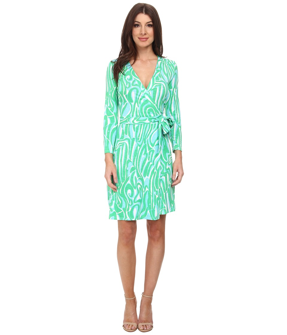 Lilly Pulitzer - Meridan Wrap Dress (Resort White Finders Keepers) Women