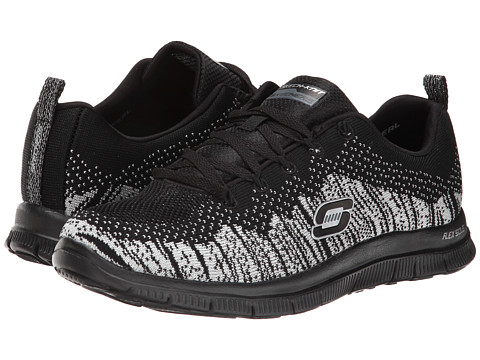 SKECHERS - Instant Hit (Black Silver) Women's Running Shoes