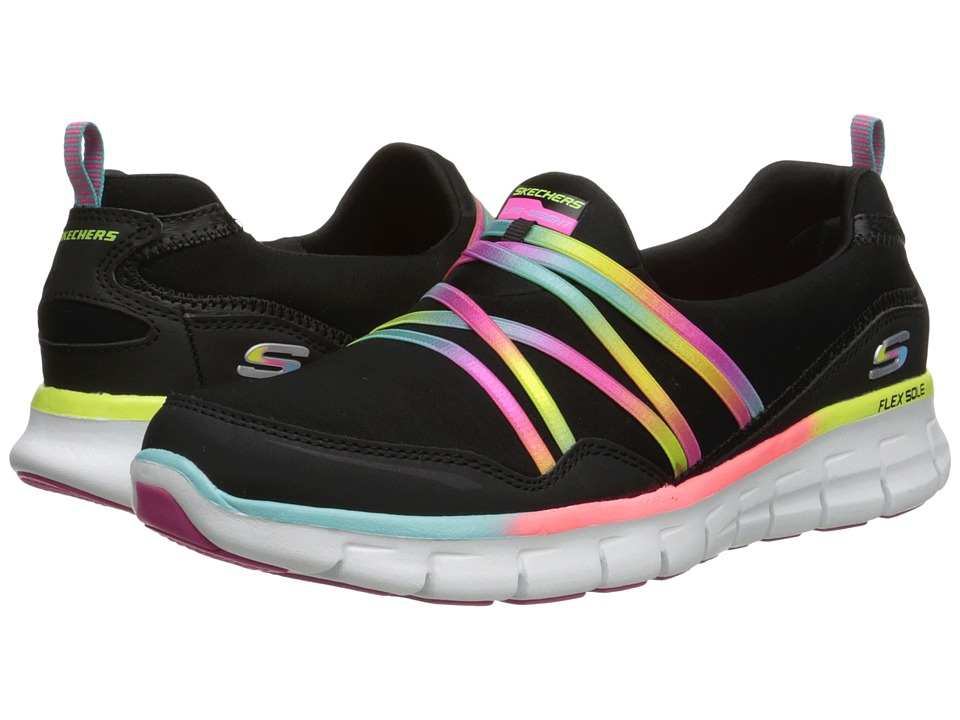 SKECHERS - Skech-Air - Mind Bender (Black Multi) Women's Slip on Shoes