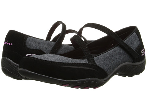 SKECHERS - Breathe-Easy - Miss Me (Black) Women's Flat Shoes