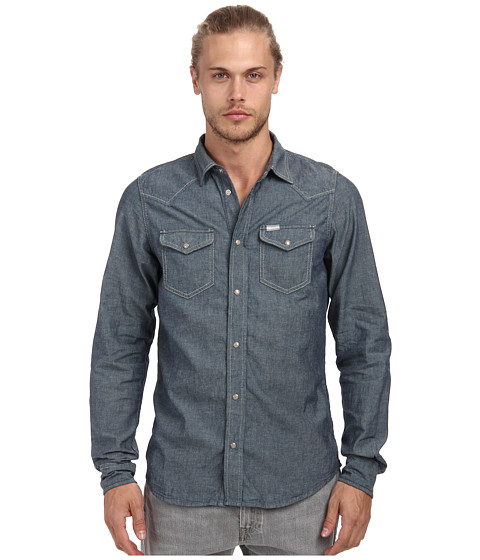 Diesel - New-Sonora Shirt (Blue) Men's Long Sleeve Button Up