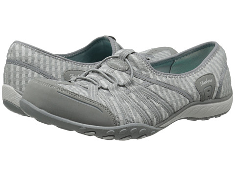 SKECHERS - Breathe-Easy - Dimension (Gray) Women's Flat Shoes