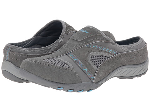 SKECHERS - Breathe-Easy - Down-To-Earth (Gray) Women's Slip on Shoes
