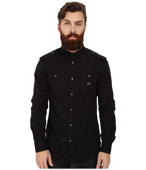 Diesel - S-Koi Shirt (Black) Men's Clothing