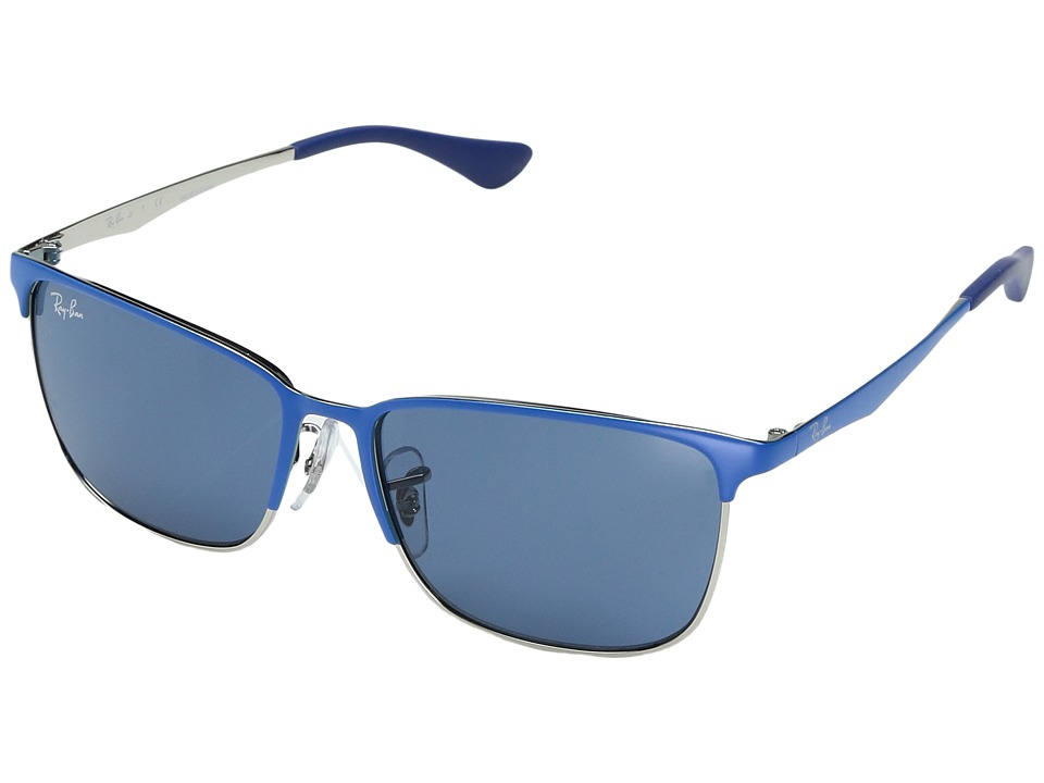 Ray-Ban - RJ9535S 51mm (Youth) (Top Matte Blue On Silver) Fashion Sunglasses