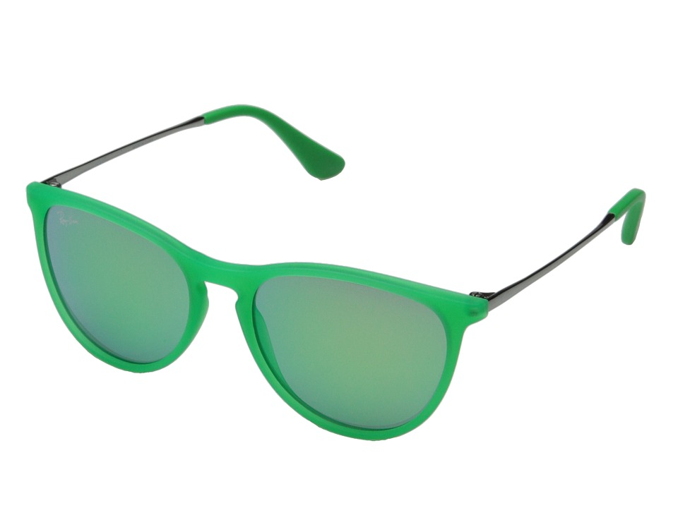Ray-Ban Junior - RJ9060S Izzy 50mm (Youth) (Green Fluorescent Transparent Rubber) Fashion Sunglasses