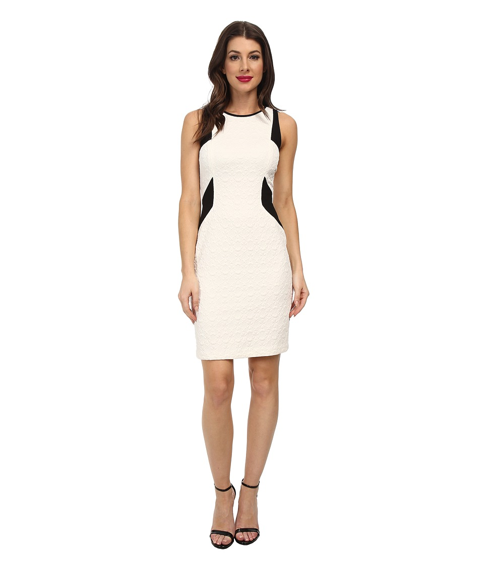 Laundry by Shelli Segal - Textured Knit Jacquard Sheath (Warm White Multi) Women's Dress
