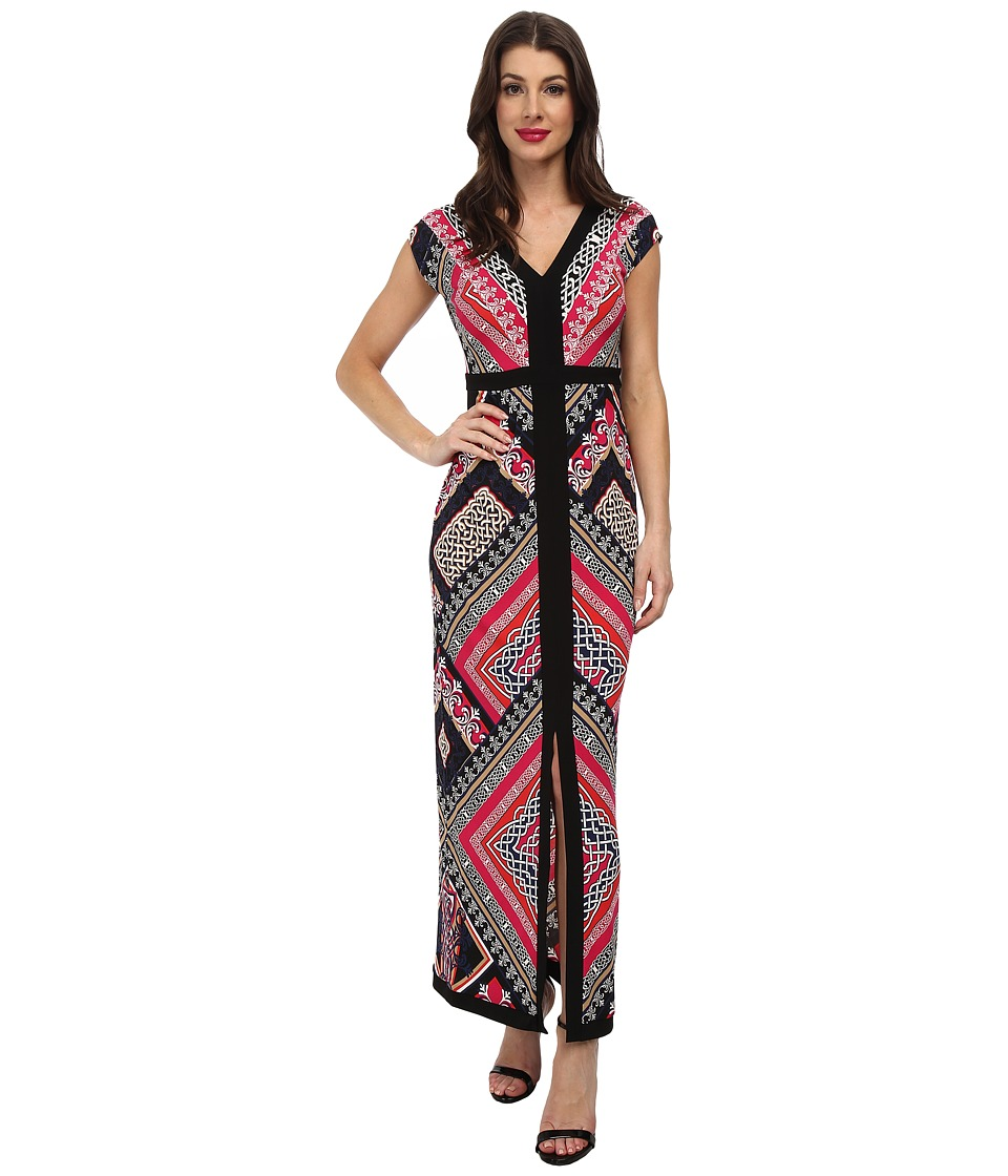 Laundry by Shelli Segal - Fioana Jersey Maxi (Power Pink Multi) Women