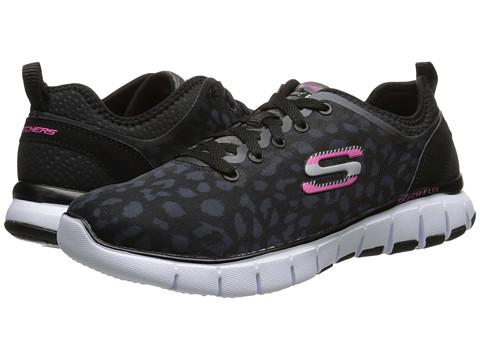 SKECHERS - Skech-Flex (Black White) Women's Lace up casual Shoes