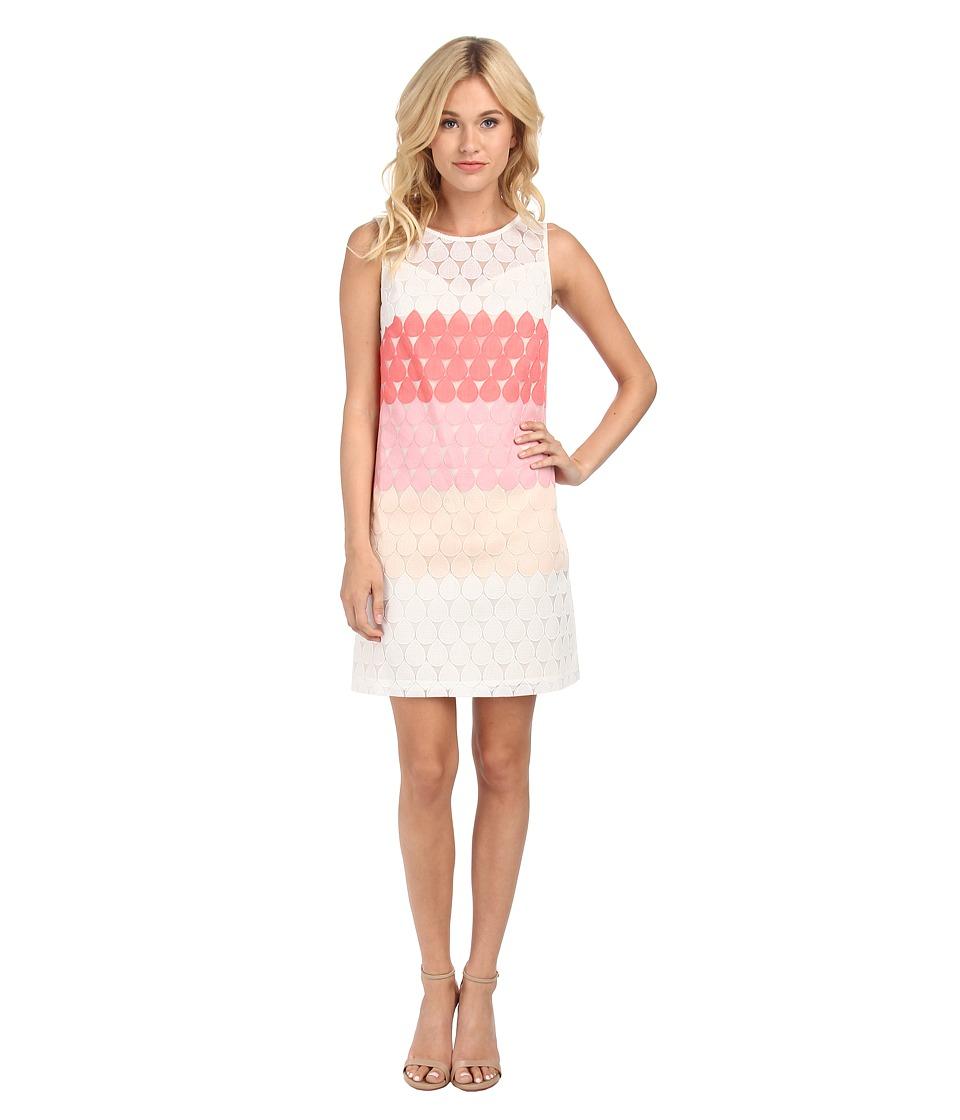 Donna Morgan - Embroidered Organza Sheath Dress (Gum Multi) Women